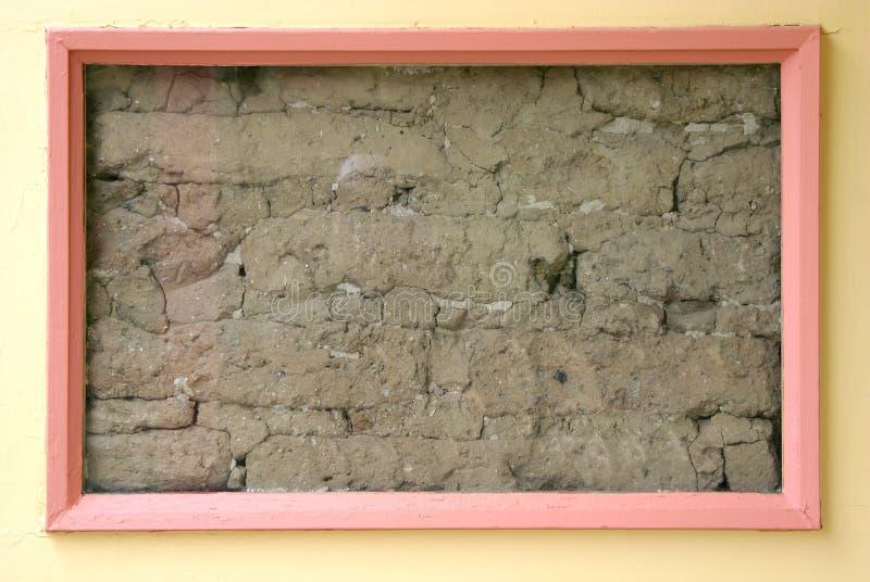 Framed Dirt Wall stock photo