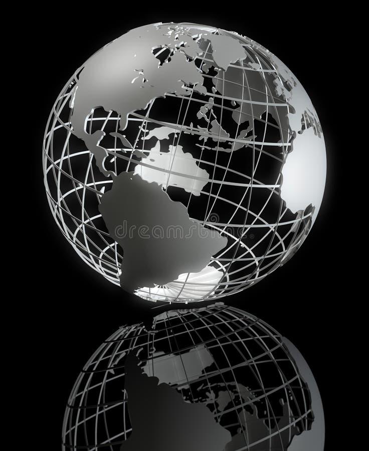 Framed Earth Series royalty free illustration
