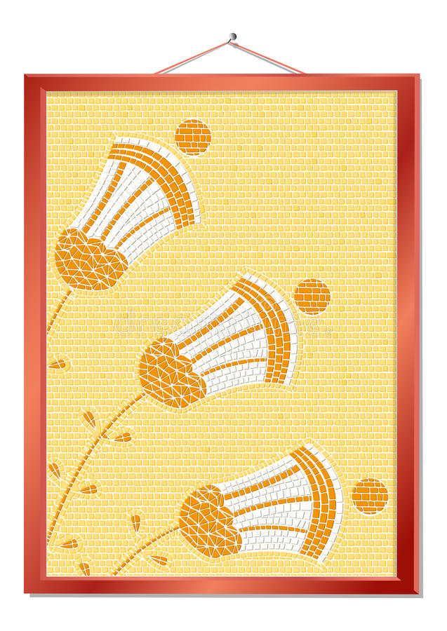 Download Framed mosaic stock vector. Image of wood, design, abstract - 21703206