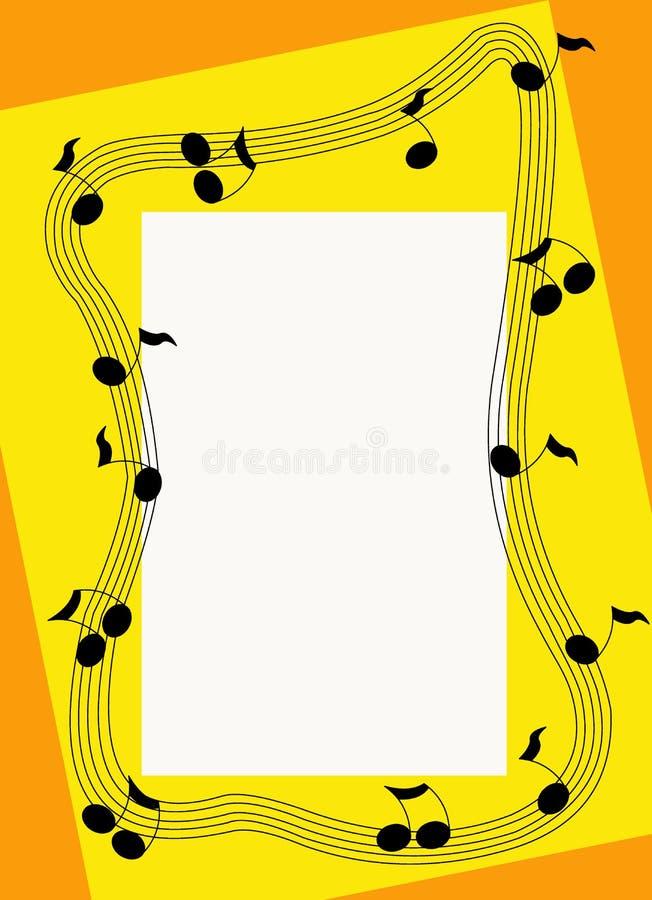 Framed Music royalty free stock image