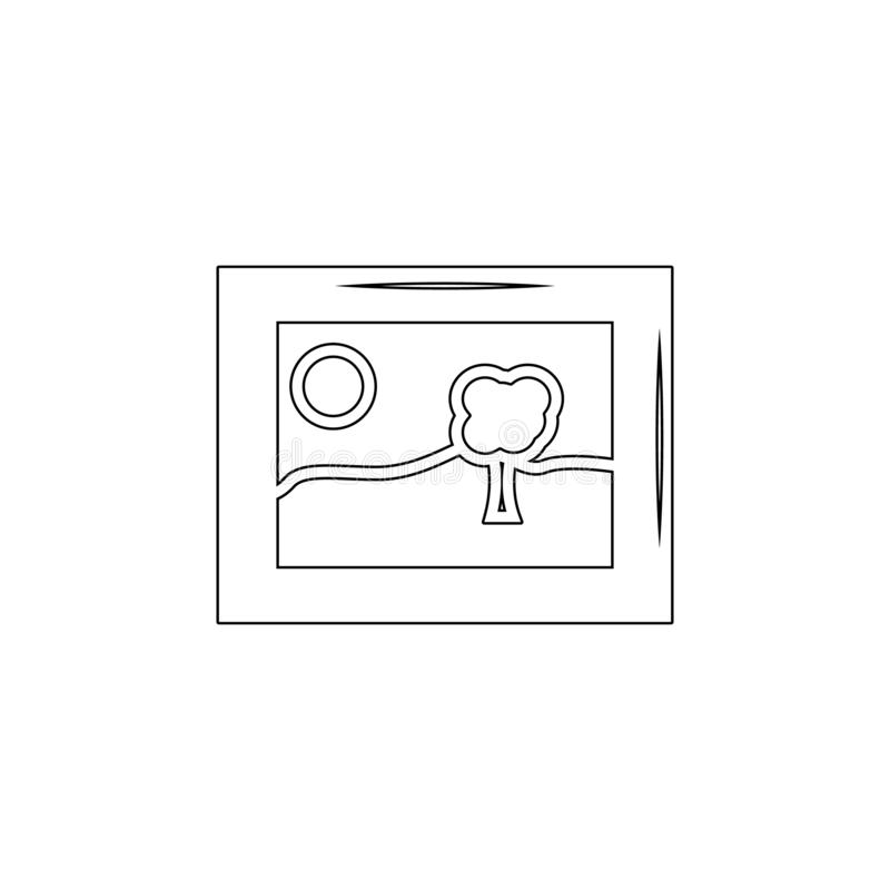 framed picture outline icon. Signs and symbols can be used for web, logo, mobile app, UI, UX vector illustration
