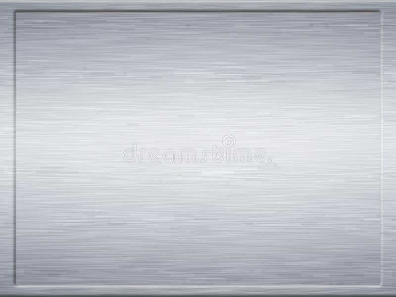 Framed steel brushed metal stock illustration