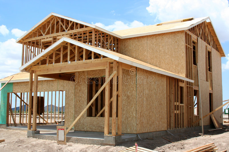 Download Framed two story stock photo. Image of home, contruction - 5878758