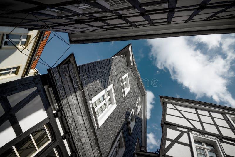 Framehouse in Deutschland/in Hattingen stockbild