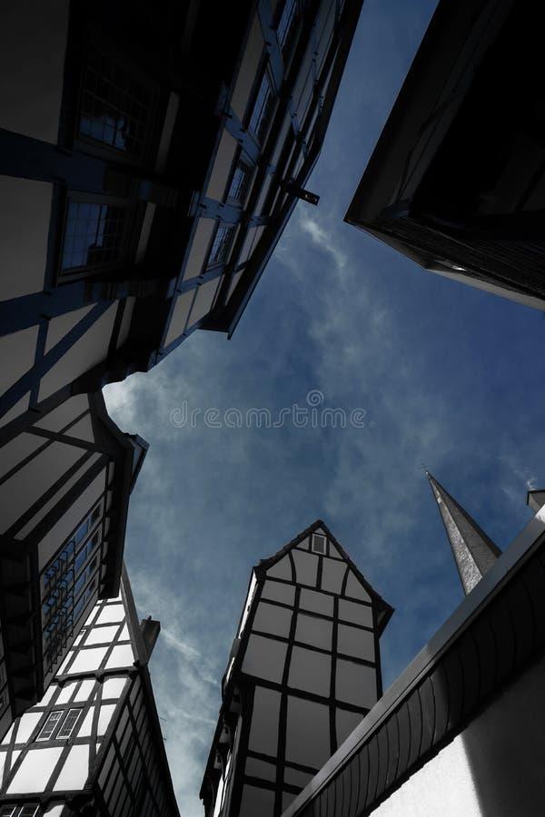 Framehouse in Deutschland/in Hattingen lizenzfreies stockfoto
