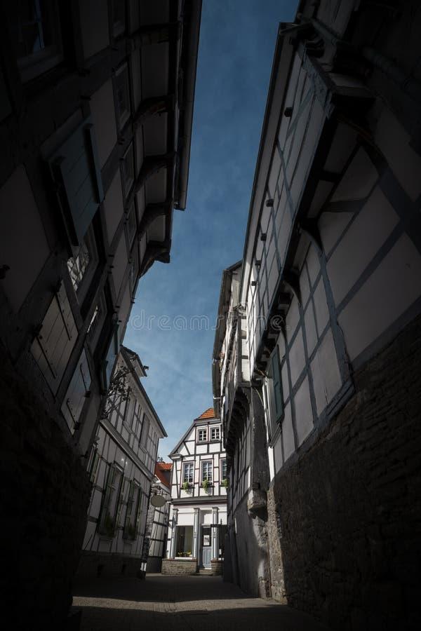 Framehouse in Deutschland/in Hattingen lizenzfreie stockfotos