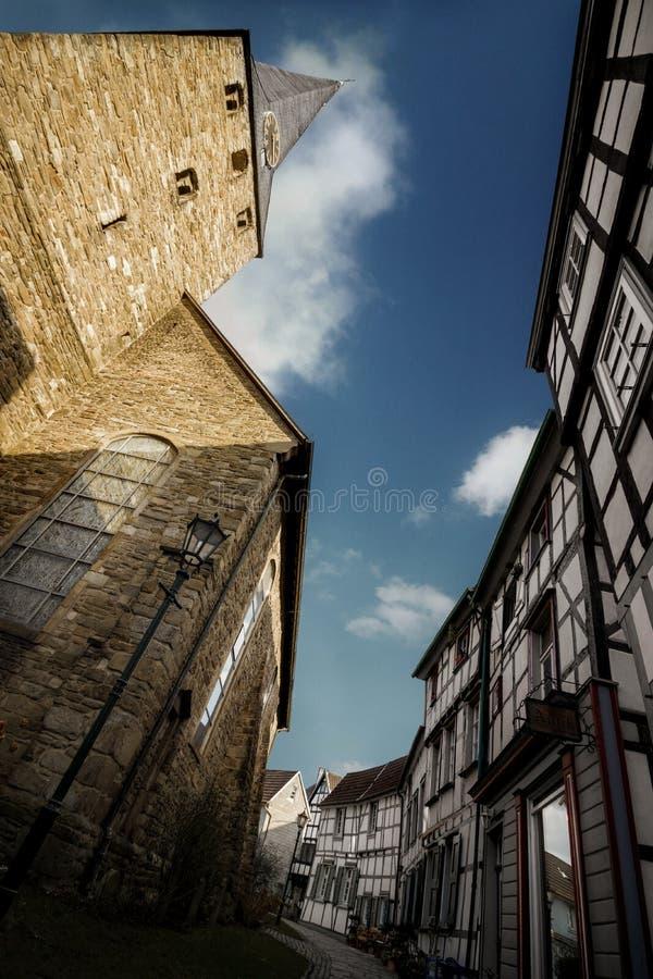 Framehouse in Deutschland/in Hattingen stockfotos