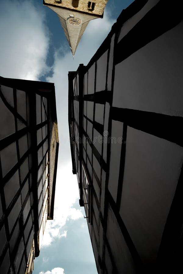 Framehouse in Deutschland/in Hattingen lizenzfreies stockbild