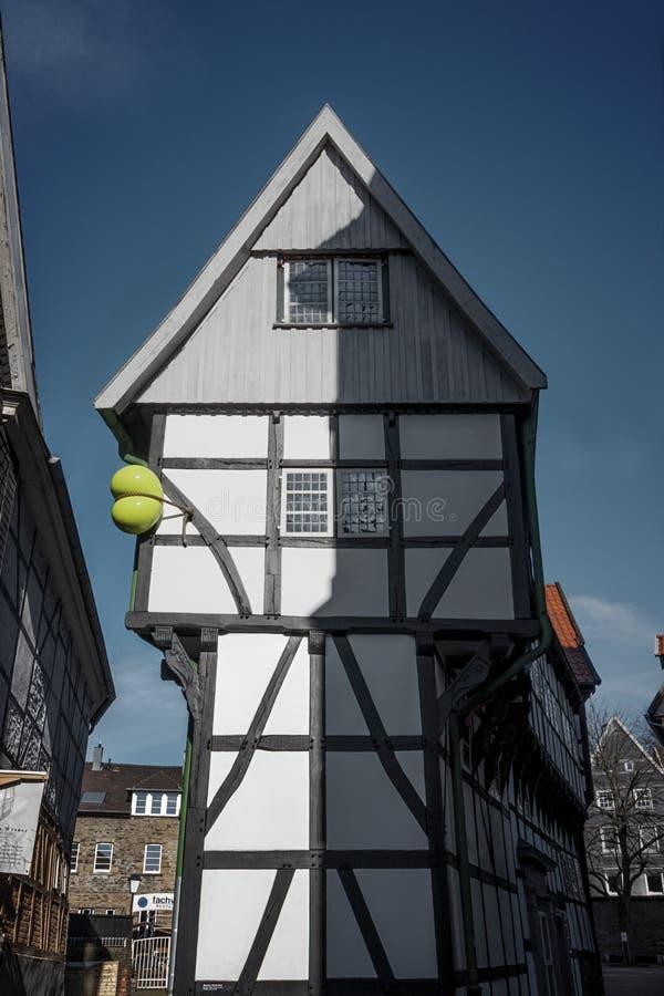 Framehouse in Deutschland/in Hattingen stockfoto