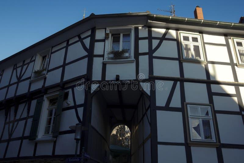 Framehouse en l'Allemagne/Hattingen photographie stock libre de droits