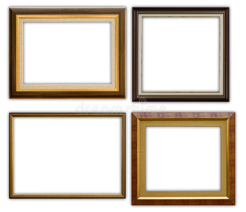 Frames. Classic frames isolated on white background, clipping path included royalty free stock photography