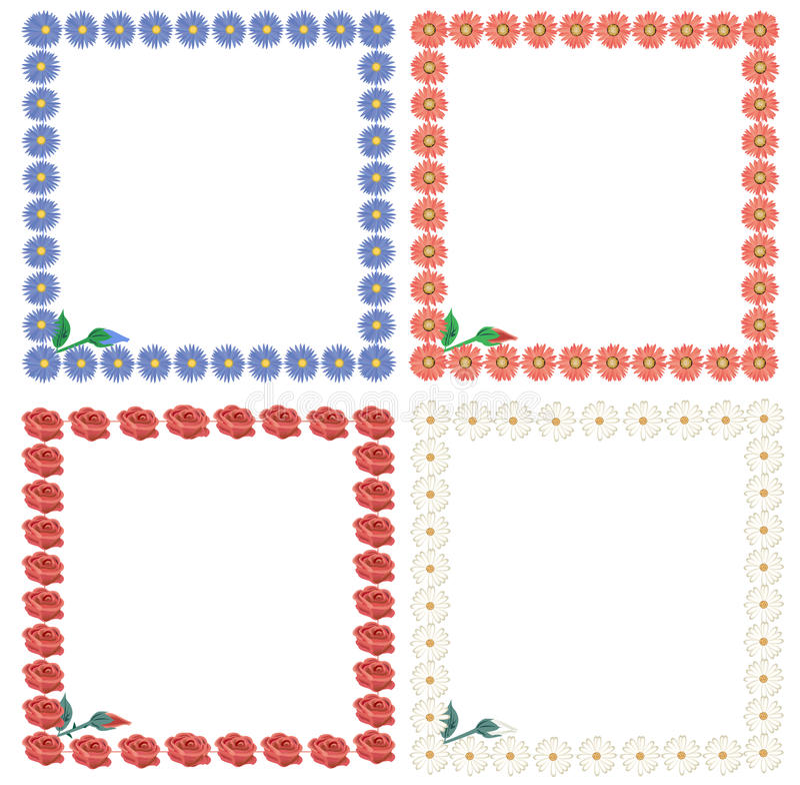 Download Frames stock vector. Image of illustrated, cornflower - 12914167