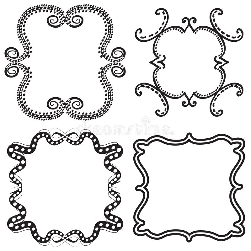 Download Frames stock vector. Image of ornament, retro, space - 26570517