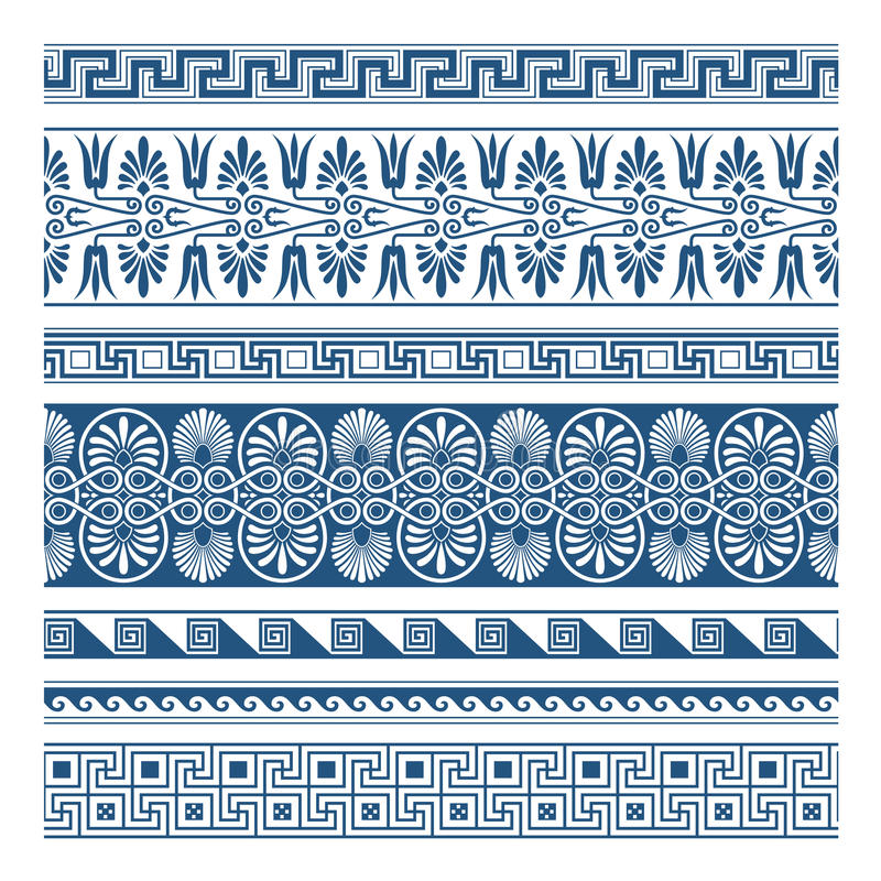 The Frames Of Ancient Greek Style Stock Vector ...