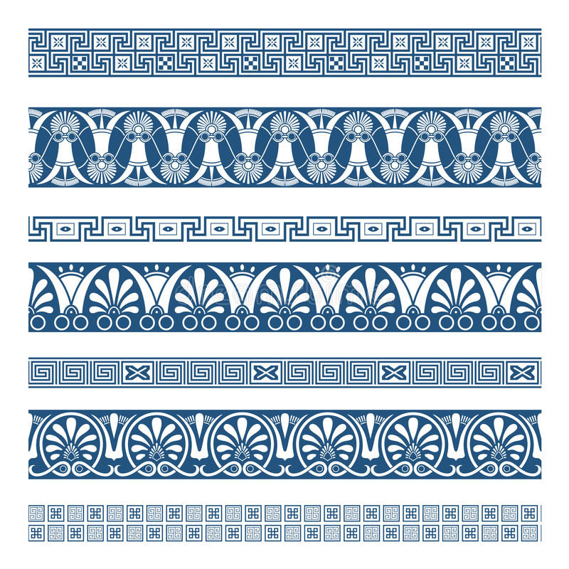 The Frames Of Ancient Greek Style Stock Vector - Illustration of ...