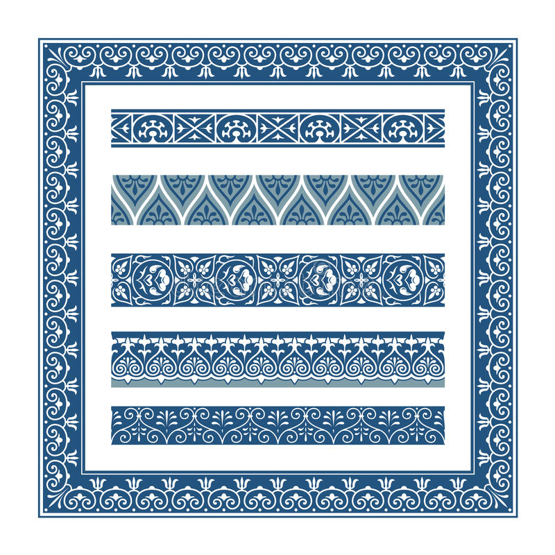 The Frames of ancient Greek style stock illustration