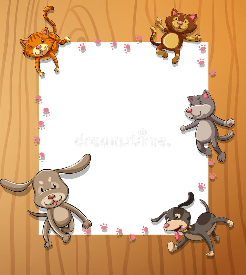 Frames with animals stock illustration