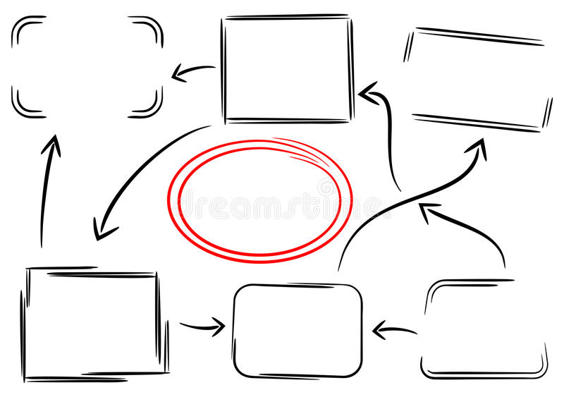 Frames and arrows. Vector illustration of frames and arrows royalty free illustration