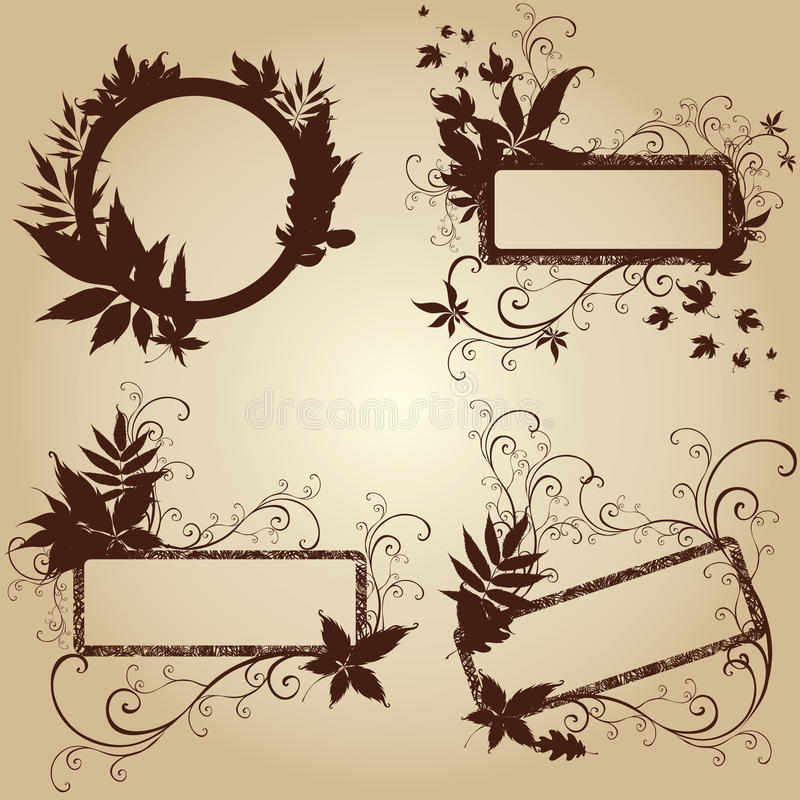 Download Frames With Autumn Leafs. Thanksgiving Stock Vector - Image: 11086272