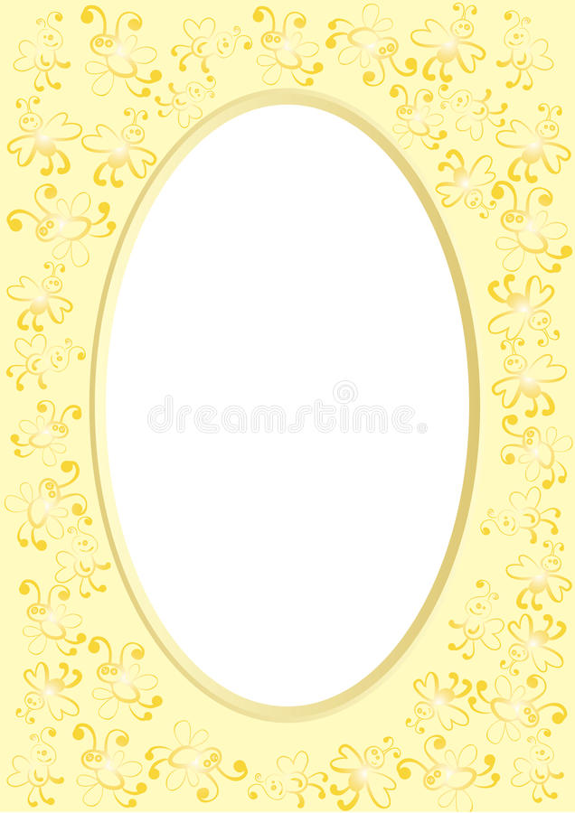 Frames with bees royalty free illustration