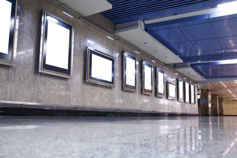 Frames brancos vazios da lona imagem de stock