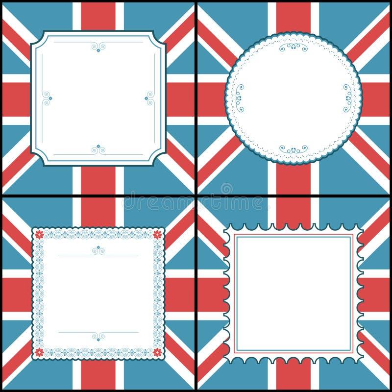 Frames britânicos ilustração royalty free