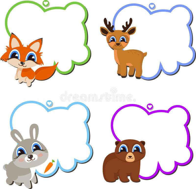 Frames With Cartoon Animals. Stock Vector - Illustration of frames ...