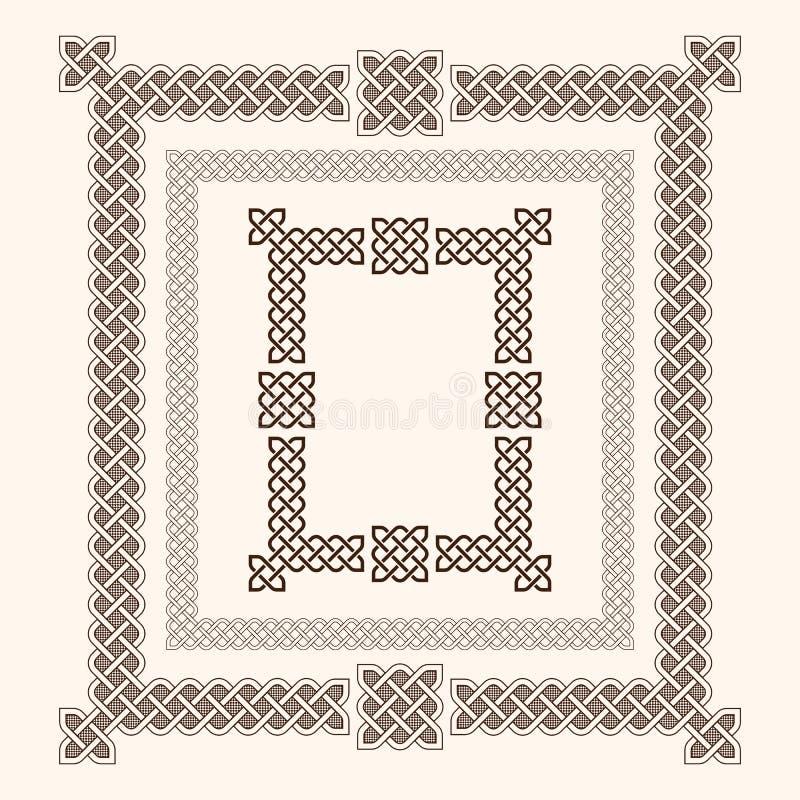 Frames celtas ilustração royalty free