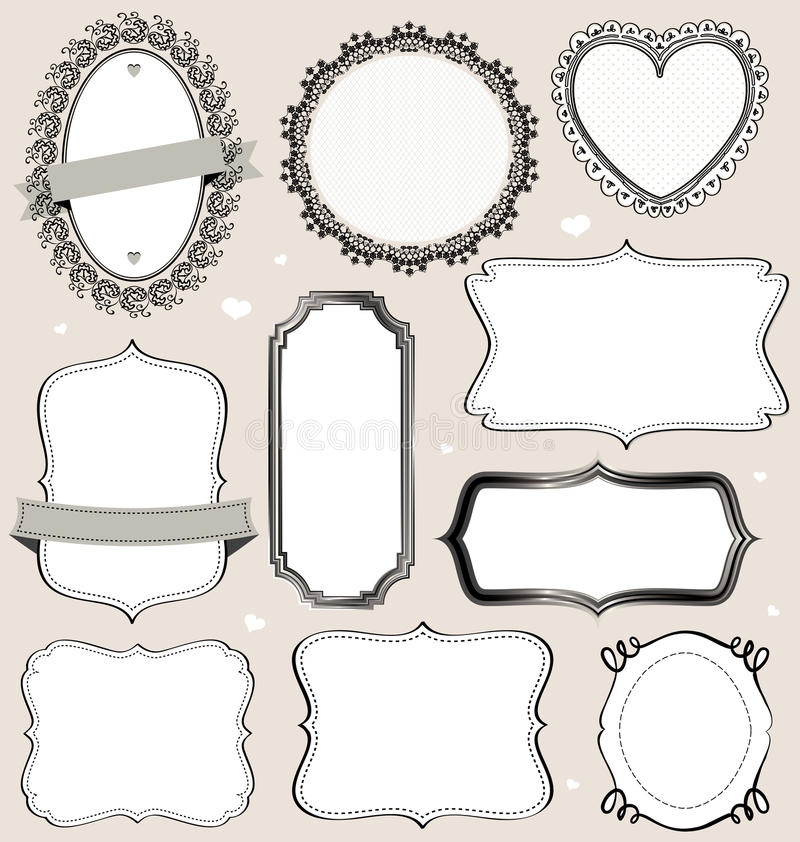 Frames Collection vector illustration