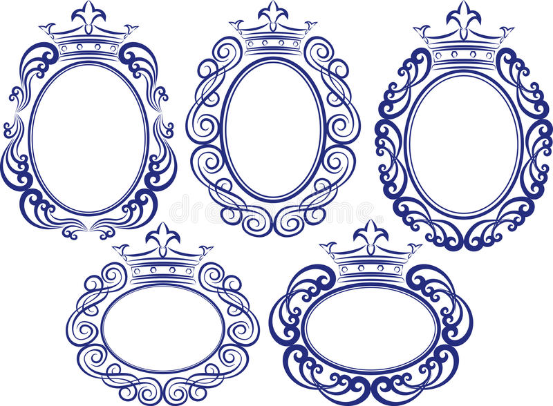 Frames with crown stock vector. Illustration of crowns - 32785035