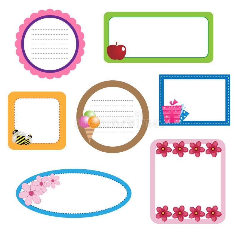 Frames da beira ilustração stock