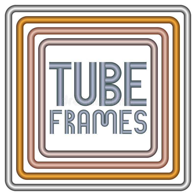 Frames da câmara de ar do metal ilustração stock