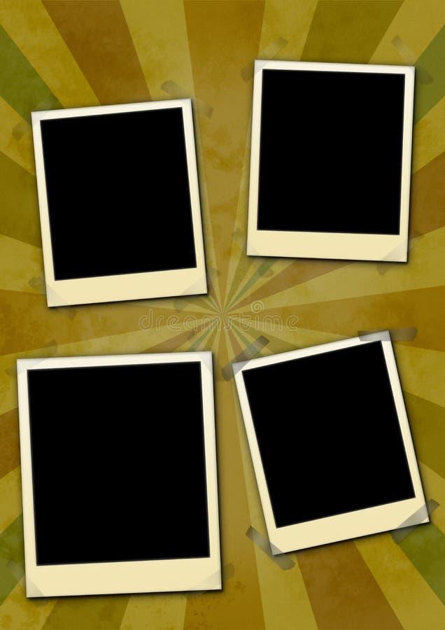 Frames da foto ilustração do vetor