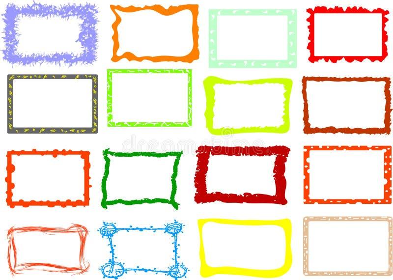 Frames da foto ilustração royalty free