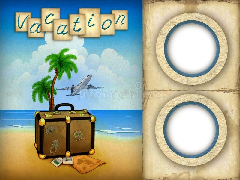 Frames da foto das férias ilustração stock