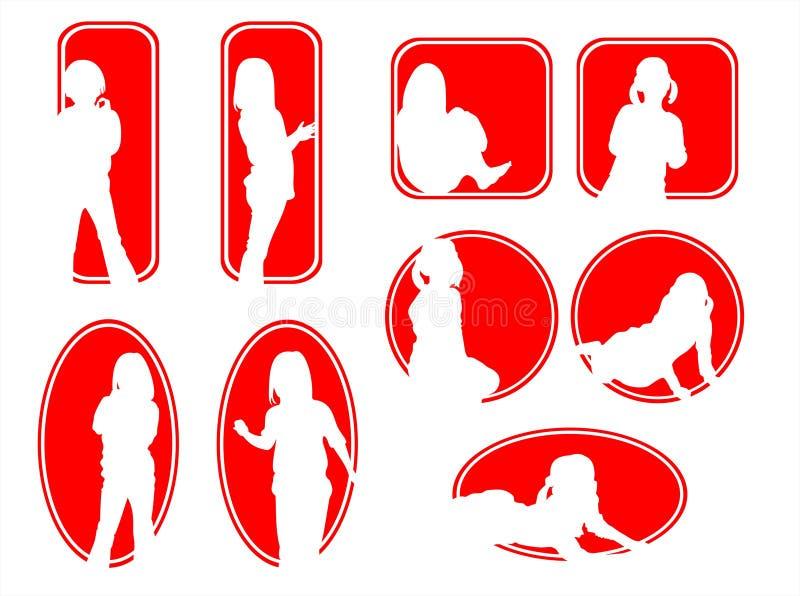 Frames das crianças ilustração stock