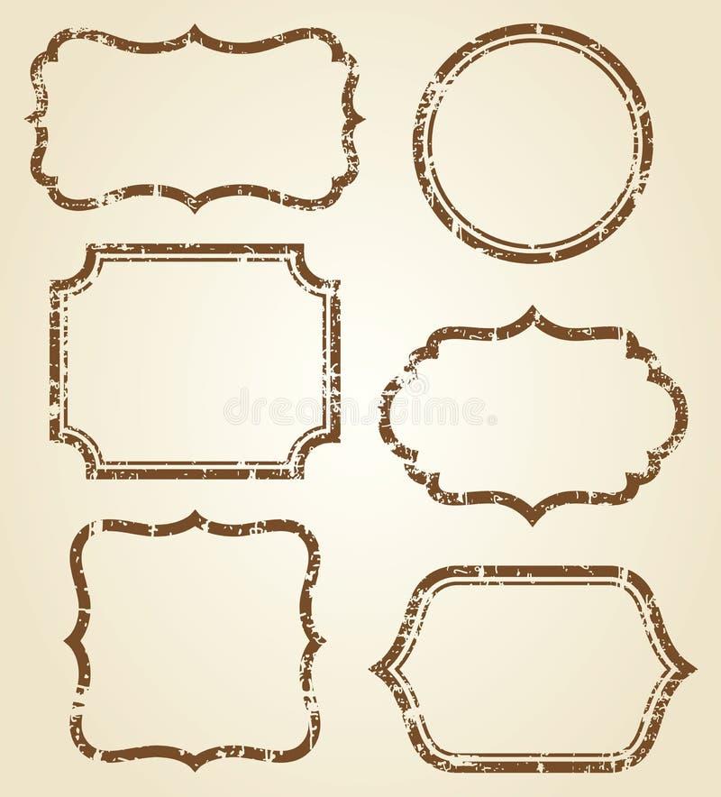 Frames de Grunge ilustração do vetor