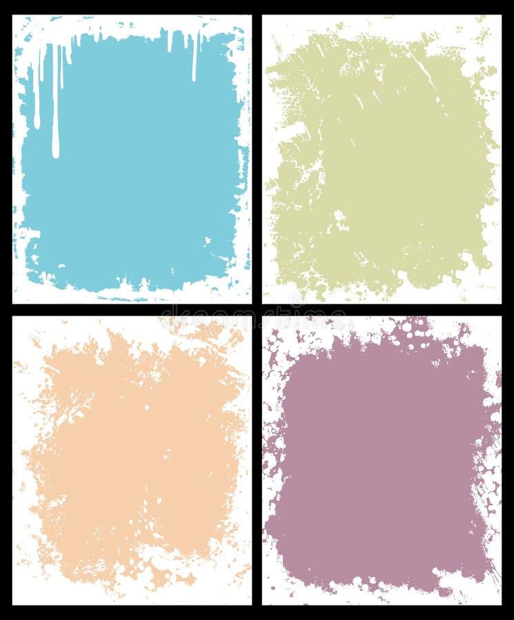 Frames de Grunge ilustração stock
