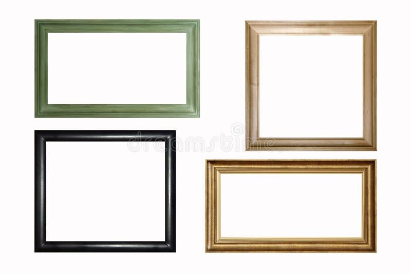 Frames de madeira imagem de stock royalty free