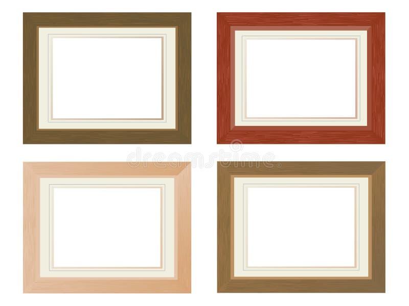 Frames de madeira da foto ilustração royalty free