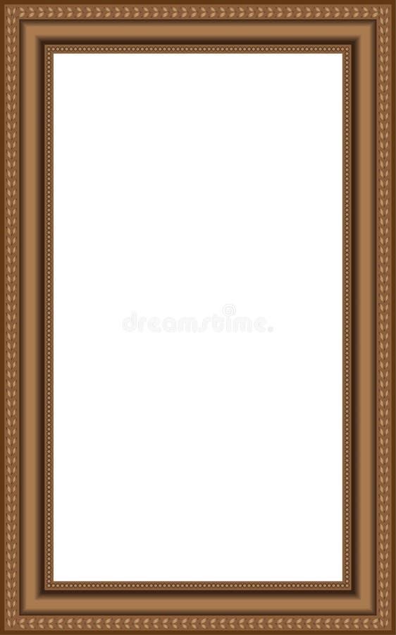 Frames de madeira marrons do vetor ilustração stock