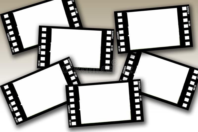 Frames de película ilustração royalty free