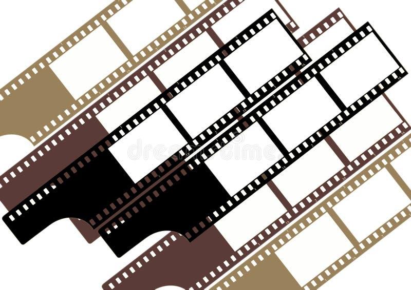 Frames de película (grupo) - cor ilustração royalty free