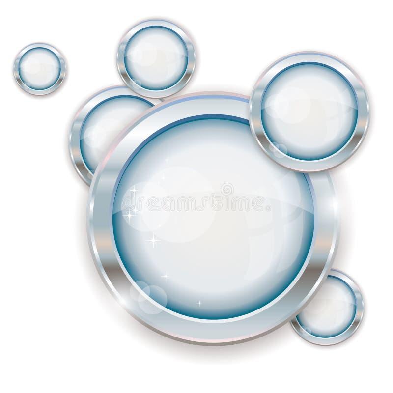 Frames de prata do círculo ilustração do vetor