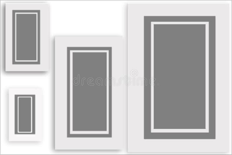 Frames De Retrato Cinzentos Foto de Stock Royalty Free