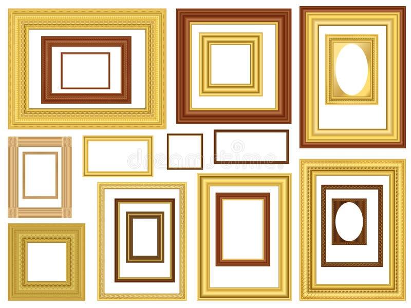 Frames de retrato decorativos do vetor ilustração do vetor