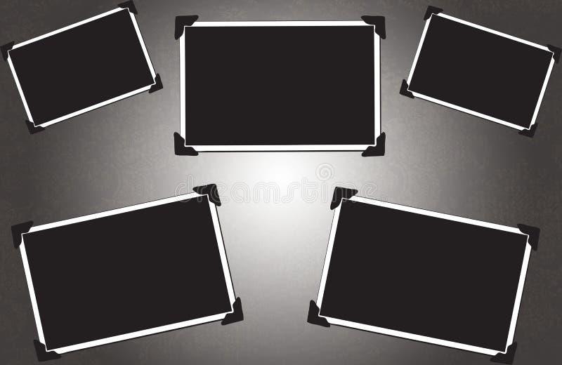 Frames de retrato em branco ilustração do vetor