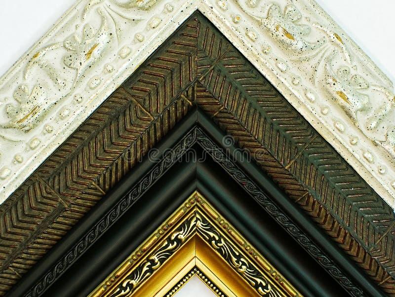 Frames de retrato de madeira velhos imagem de stock