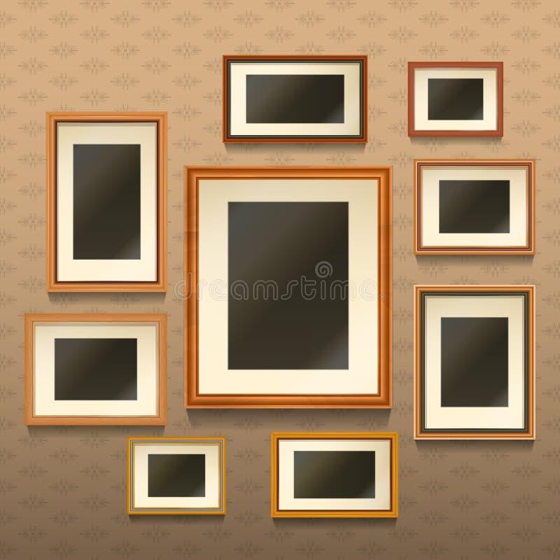 Frames de retrato na parede ilustração stock