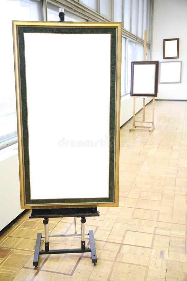 Frames in de zaal stock foto's